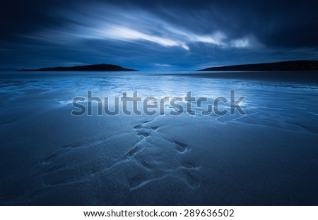 Long exposure at Sands Bay, Gairloch in the North West Highlands of Scotland - stock photo