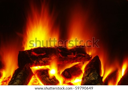 long exposure of fire - stock photo