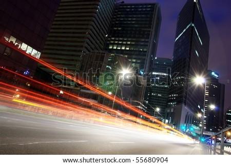 long exposure traffic shots-5 - stock photo