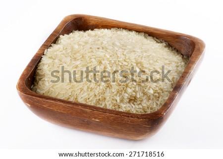 long-grain rice  - stock photo