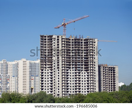Khabarovsk russia october 7 construction new stock photo for New construction building process