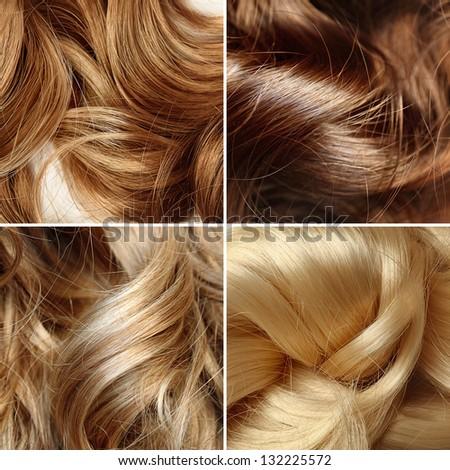 long human hair collage - stock photo