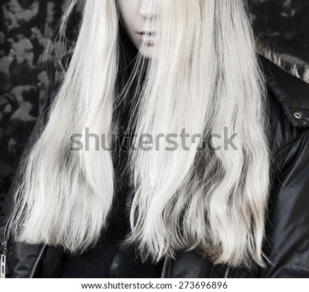 Long light blond hair - stock photo