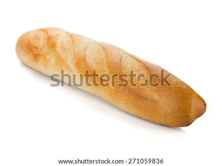 Long loaf. Isolated on white background