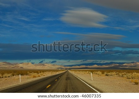 Long long road - stock photo