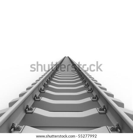 Long rails - stock photo