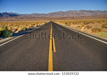 long road to nowhere - stock photo
