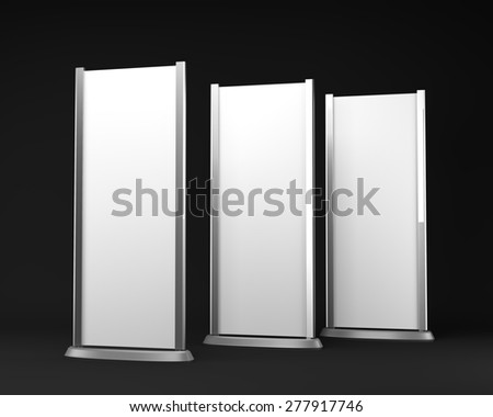long rollups or banners - stock photo
