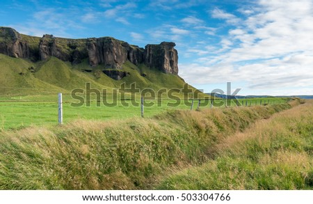 Long running fence in Iceland, Europe