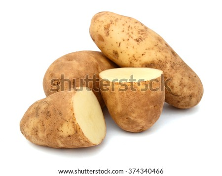 Long russet potatoes - stock photo