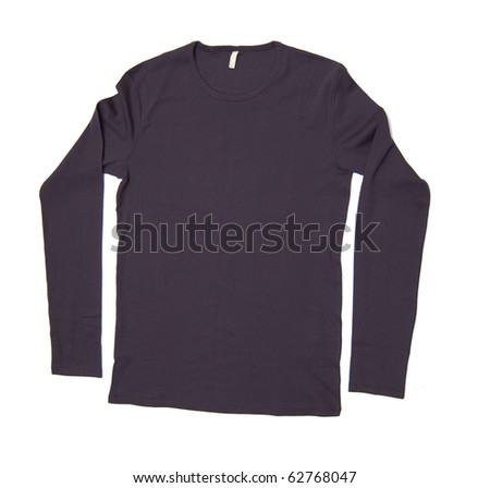 long sleeve shirt isolated on white background - stock photo