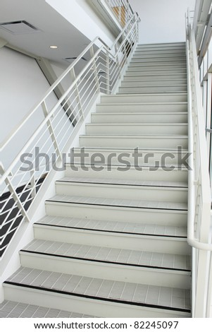 Long stairs - stock photo
