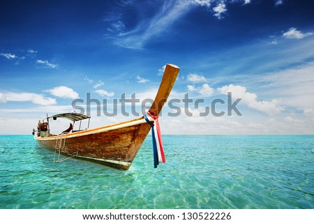 Long Tail boat in Thailand sea