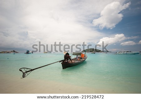 Long tailed boat at Similan island, Thailand