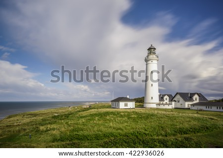 long time exposure of Lighthouse Hirtshals, Denmark, Europe