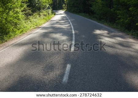 long way - stock photo