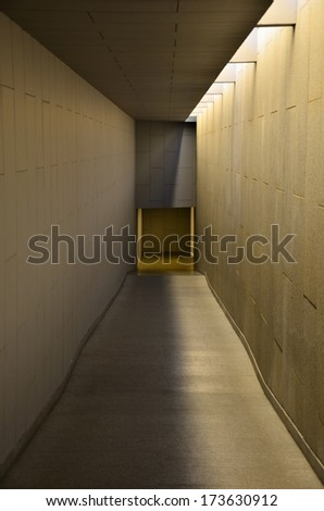 Long Way Tunnel  - stock photo