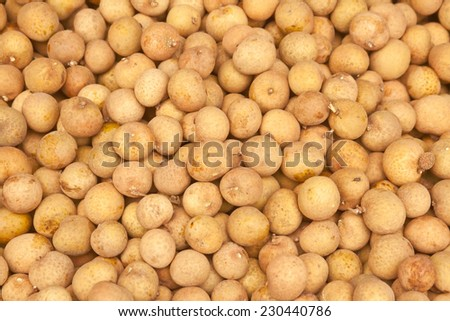 Longan on the street market in Thailand - stock photo