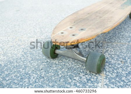 longboard on the city street