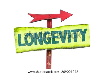 Longevity sign isolated on white