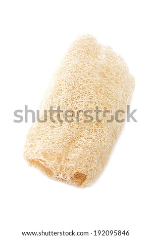 Loofah - natural fiber for body scrubbing - isolated on white