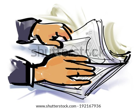 look for a document - stock photo