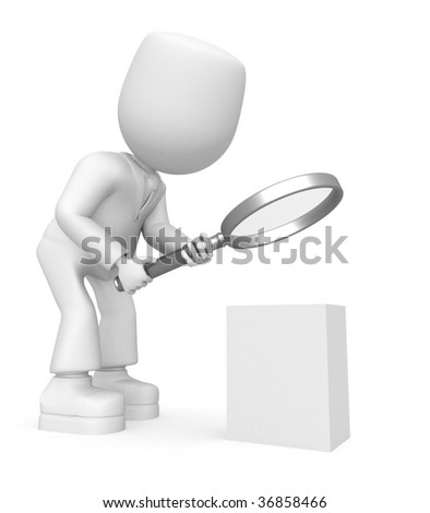 look into box - stock photo