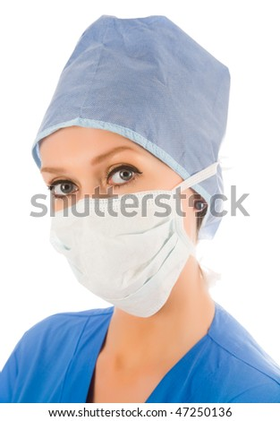look of female surgeon