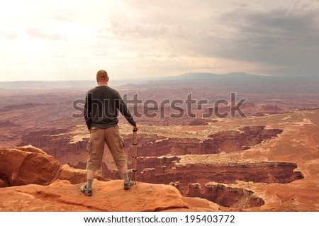 Look out on the Rocks Canyonlands National Park - stock photo