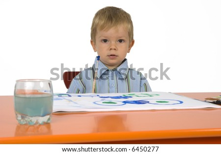 Look which I painted! - stock photo