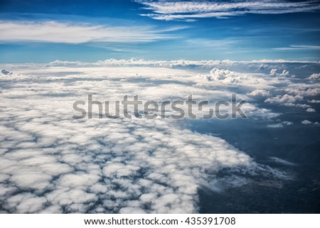 Looking Down Through Clouds Planet Earth Stock Photo ...