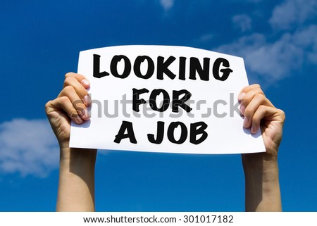 looking for a job, unemployment concept - stock photo