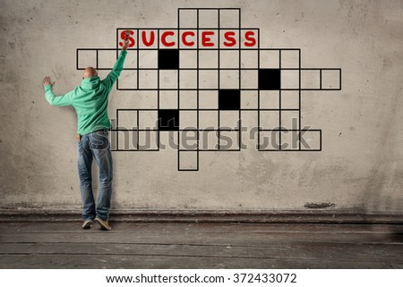 Looking for success - stock photo