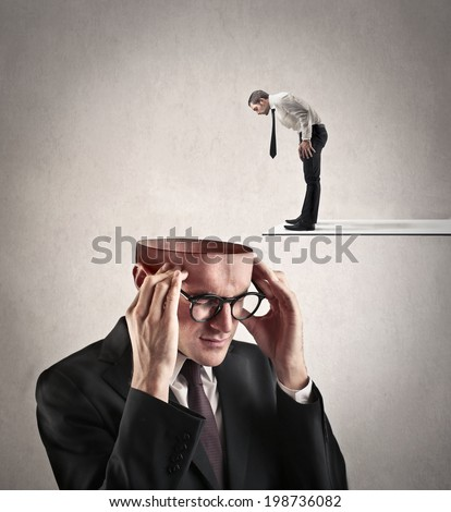 looking for the concept - stock photo