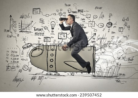 Looking forward to something  - stock photo