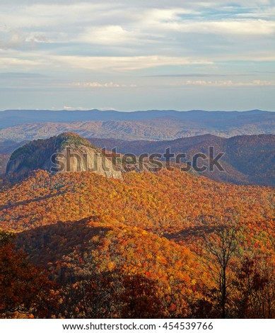 Looking Glass Mountain Appalachian Mountains, North Carolina - stock photo