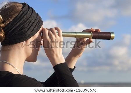 Looking to the future - stock photo