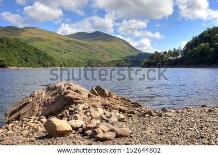 Looking towards Helvellyn from Thirlmere, Cumbria, England