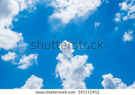 Looking up at Blue sky with cloudy - stock photo