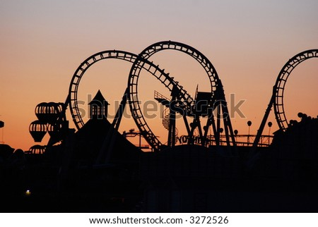 looper coaster - stock photo