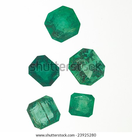 Loose Emeralds - stock photo