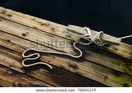 Loose End - stock photo