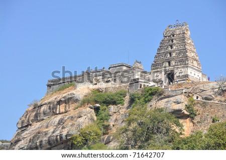 Lord Narasimha Swamy Hindu Temple, Melukote - stock photo
