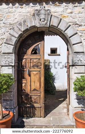 Loreti Palace. Satriano di Lucania. Italy. - stock photo