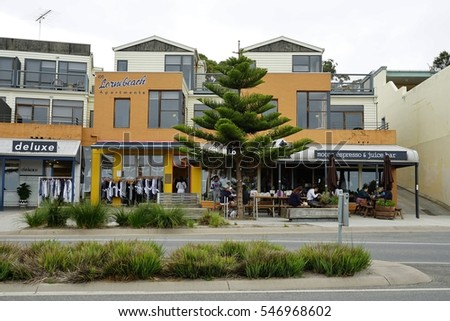 LORNE, AUSTRALIA -10 DEC 2016- The town of Lorne is located on Louttit Bay in the Surf Coast Shire on the Great Ocean Road in Victoria, Australia.