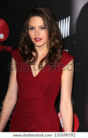 "LOS ANGELES - APR 16:  Aimee Teegarden arrives at the ""Call Me Crazy: A Five Film"" Premiere at the Pacific Design Center on April 16, 2013 in West Hollywood, CA"