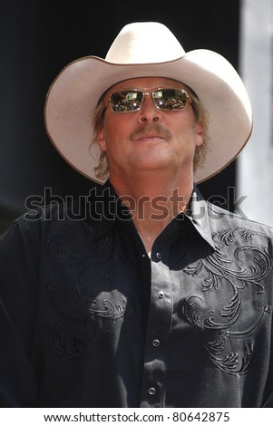LOS ANGELES - APR 16: Alan Jackson at a ceremony where Alan Jackson receives the 2405th star on the Hollywood of Fame, Los Angeles, California on April 16, 2010 - stock photo