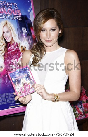 LOS ANGELES - APR 19:  Ashley Tisdale attends a DVD signing for 'Sharpay's Fabulous Adventure!' at Barnes & Noble Booksellers at The Grove in Los Angeles, California on April 19, 2011.