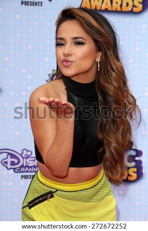 LOS ANGELES - APR 25:  Becky G at the Radio DIsney Music Awards 2015 at the Nokia Theater on April 25, 2015 in Los Angeles, CA - stock photo