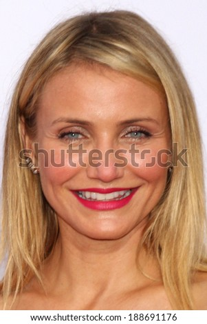 """LOS ANGELES - APR 21:  Cameron Diaz at the """"The Other Woman"""" Premiere at Village Theater on April 21, 2014 in Westwood, CA - stock photo"""